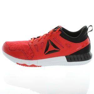 Reebok Big Kids Black Red Track 3DK Shoes Sneakers